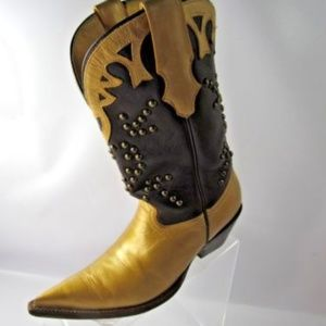 Rudel Vintage Size 6M Gold Brown Leather Boots